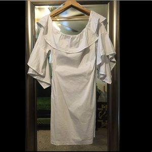 crisp white eloquii dress